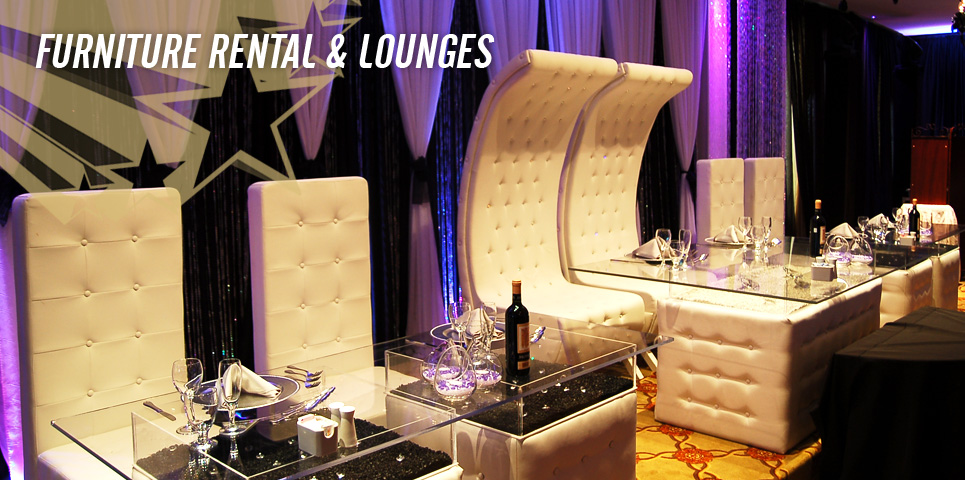 Wedding event djs providing audio visual party services in montreal Home furniture rental montreal
